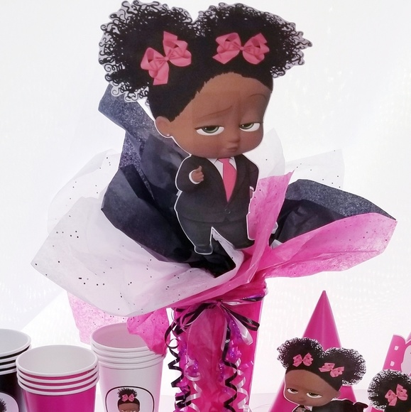 Black Boss Baby Girl Party Package Nwt